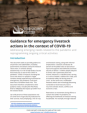 Guidance for emergency livestock actions in the context of COVID-19