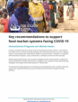 Key Recommendations to Support Food Market Systems Facing Covid-19