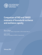 Comparison of FAO and TANGO measures of household resilience and resilience capacity