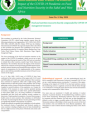 Impact of the COVID-19 Pandemic on Food and Nutrition Security in the Sahel and West Africa