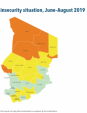 Map 15 Chad, CH Acute food insecurity situation, June–August 2019