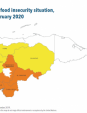 Map 27 Honduras, IPC Acute food insecurity situation, November 2019–February 2020