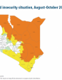 Map 30 Kenya, IPC Acute food insecurity situation, August–October 2019