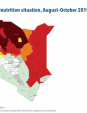 Map 31 Kenya, IPC Acute malnutrition situation, August–October 2019