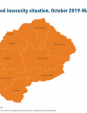 Map 32 Lesotho, IPC Acute food insecurity situation, October 2019–March 2020