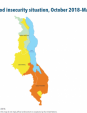 Map 36 Malawi, IPC Acute food insecurity situation, October 2018–March 2019