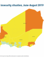Map 42 Niger, CH Acute food insecurity situation, June–August 2019