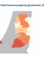 Map 50 Palestine, Number of food-insecure people by governorate, 2019