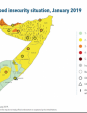 Map 51 Somalia, IPC Acute food insecurity situation, January 2019