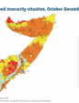 Map 52 Somalia, IPC Acute food insecurity situation, October–December 2019