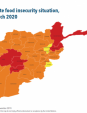 Map 6 - Afghanistan, IPC Acute food insecurity situation, November 2019–March 2020