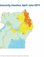 Map 62 Uganda, Acute food insecurity situation, April–June 2019